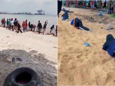 Viral Aksi Perpeloncoan Mahasiwa UHO di Pantai Nambo Sultra, Pihak Kampus 'Lepas Tangan'