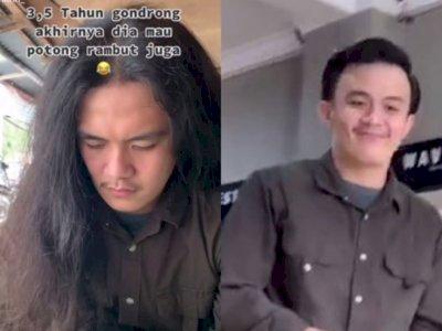 Viral Pria Gondrong Ini Berubah Jadi Ganteng Setelah 3,5 Tahun