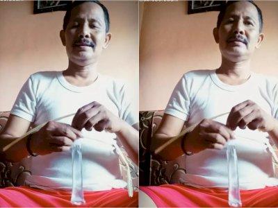 Bagikan Tutorial Ikat Es Lilin, Bapak-bapak Ini Tuai Pujian dari Netizen