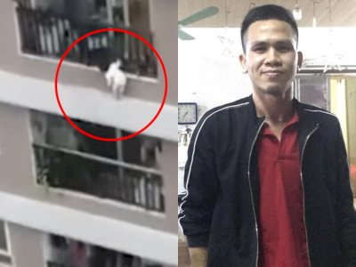 Viral Video Pria Selamatkan Balita Berusia 3 Tahun yang Jatuh dari Lantai 12 Apartemen