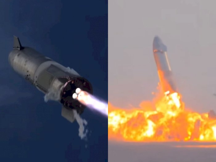 Roket Starship SN10 SpaceX Sukses Mendarat, Namun Meledak Tak Lama Kemudian