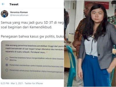 Veronica Koman Soroti Soal Tes Guru SD 3T, Singgung Penerima Beasiswa Pendukung Separatis