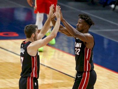 FOTO: Butler Mendominasi, Miami Heat vs Pelicans 103-93