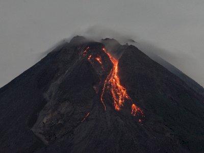 FOTO: Guguran Lava Pijar Merapi
