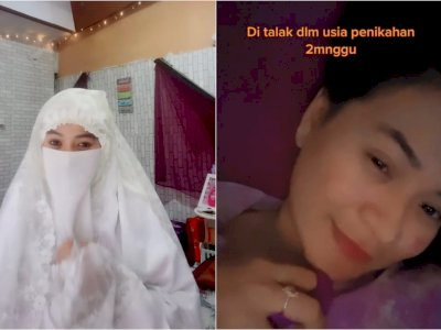 Viral Wanita Cantik Diceraikan Saat Lagi Hamil, Netizen Salfok: Kok Cadarnya Dibuka?