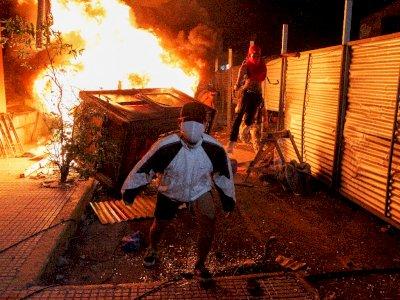 FOTO: Protes Penanganan COVID-19 di Paraguay