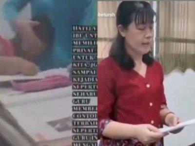 Viral! Video Guru Les yang Main Tampar Muridnya, Sekarang Minta Maaf