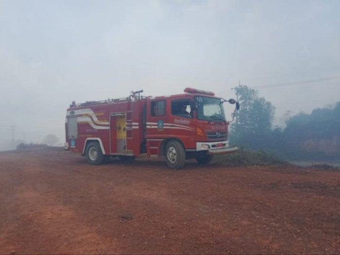 Damkar Sebut Tim Gabungan Masih Padamkan Sisa Karhutla di Kabupaten Bintan
