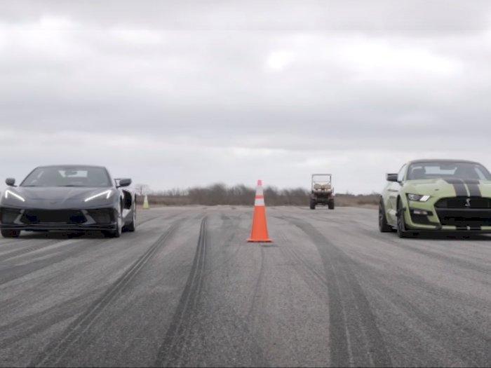 Drag Race: Ford Mustang Shelby GT500 dan Corvette C8, Siapa yang Menang?