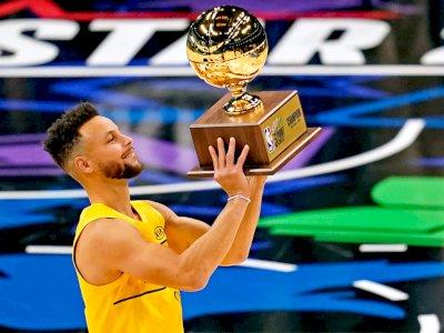 FOTO: Stephen Curry Memenangkan Kontes 3-Poin 2021