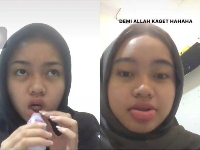 Heboh Cewek Bikin Bibir Jadi Tebal hanya dengan Botol Yakult, Netizen Syok tapi Ngakak