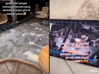 Viral Pengunjung Kafe Rayakan Pesta Sampai Ruangan Jadi Berantakan, Bikin Netizen Geram