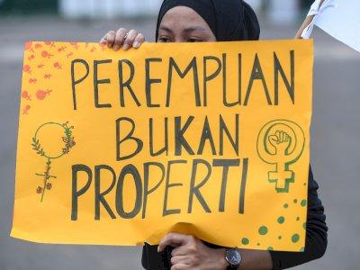FOTO: Aksi Hari Perempuan Internasional