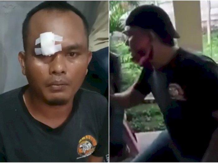 Tampang Engkin Badrudin, Oknum Ormas PP yang Berani Ngatur TNI-Polri, Pecah Pelipisnya