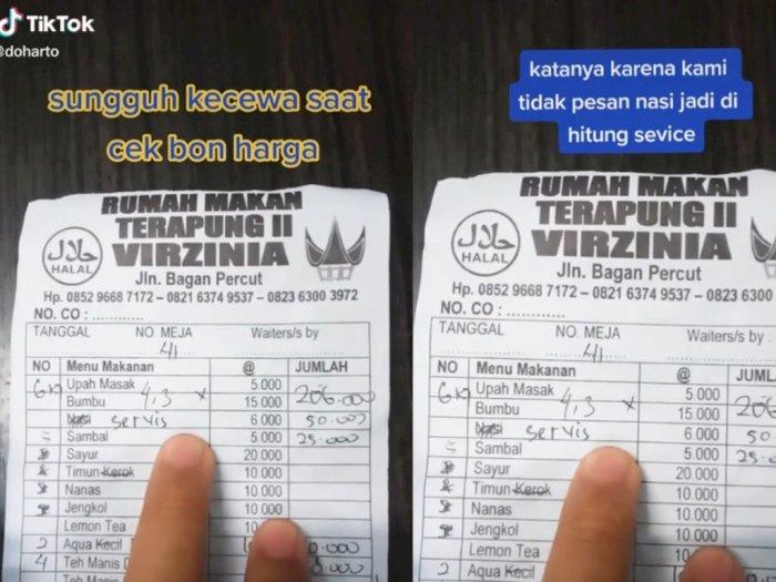 Pria di Medan Kena Biaya Service Rp50 Ribu Gegara Tak Pesan Nasi saat Makan di Warung
