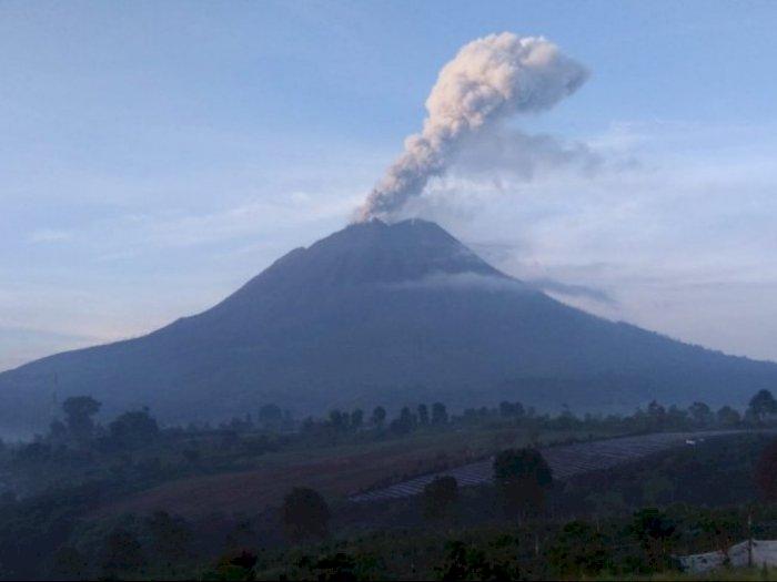 Gunung Sinabung di Karo Kembali Erupsi, Semburan Abu Vulkanik Setinggi 700 Meter