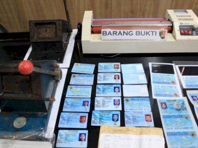 Polres Pelabuhan Tanjung Priok Bekuk Pelaku Pemalsuan e-KTP, Sudah Beraksi Selama Setahun