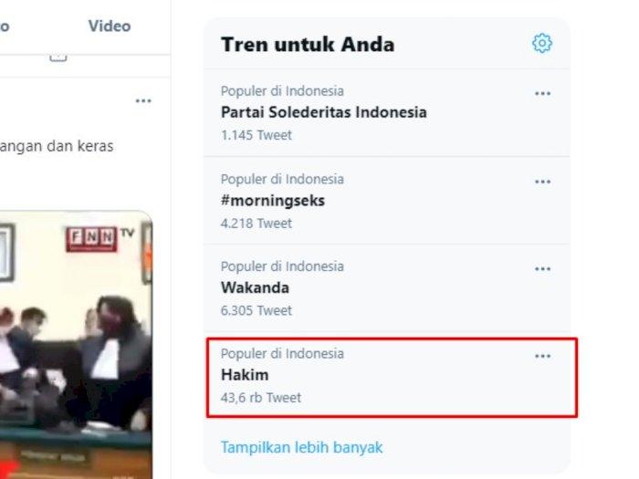 'Hakim' jadi Trending Topic di Twitter, Banyak Netizen Mengaitkan dengan Sidang HRS
