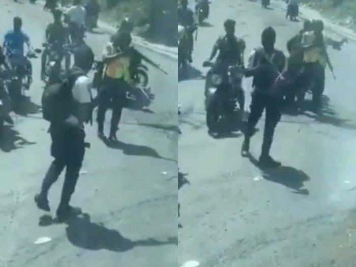 Viral Sekelompok Pria Bersenjata Hentikan Bus Tim Sepak Bola Nasional Jelang Piala Dunia
