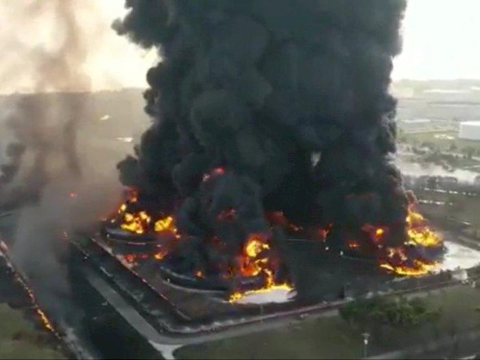Kebakaran Kilang Minyak Indramayu, BPBD Siapkan Tenda Satgas dan Logistik untuk Pengungsi
