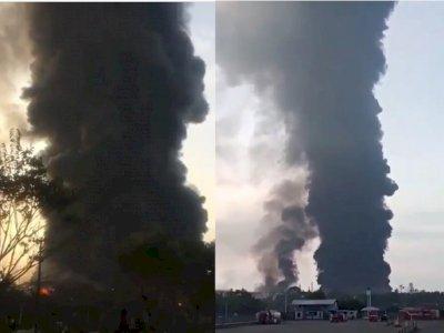 Polisi Segera Olah TKP Kebakaran Kilang Pertamina Indramayu, Tunggu Situasi Kondusif