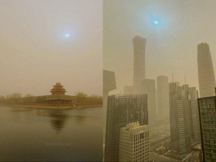 Ketika Langit di Beijing Berubah Kuning dan Mataharinya Bersinar Biru, Ada Apa?