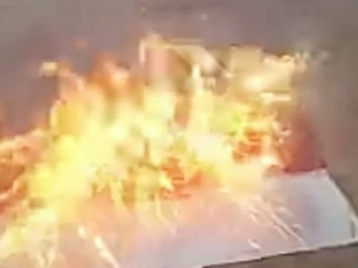 Viral, Bendera Merah Putih Dibakar, Pelakunya Sudah Ditangkap, Akan Diperiksa Kejiwaannya