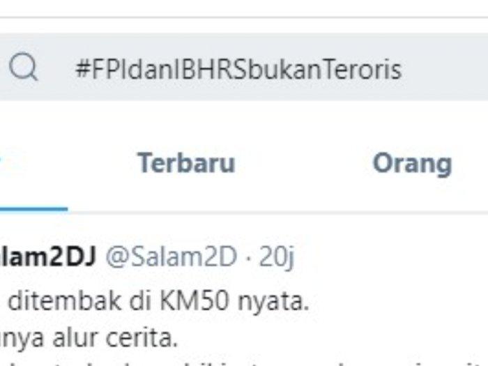 Tagar #FPIdanIBHRSbukan Teroris jadi Trending Topic di Twitter, Tweetnya Hingga 16,8 ribu
