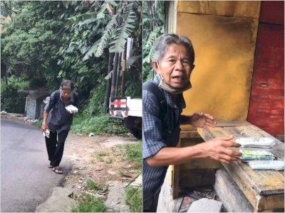 Memilukan, Bapak Tua Ini Jalan Kaki Jualan Remote TV, Sehari Cuma Untung Rp3 Ribu