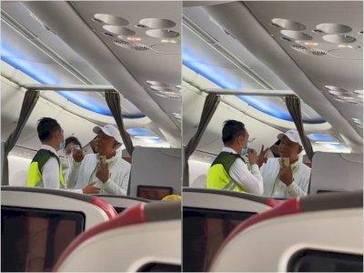 Arogan, Penumpang Ini Mengamuk dan Marah-marah ke Petugas Pesawat: Yang Gaji Kau Penumpang