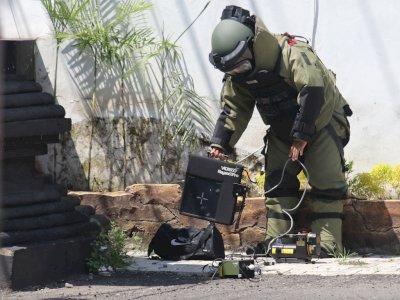 FOTO: Tas Diduga Bom di Kota Kediri