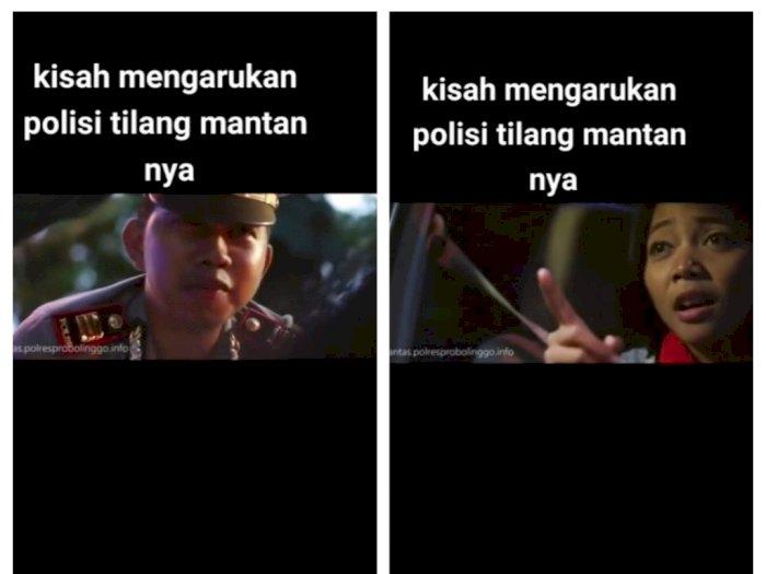 Kisah Haru Polisi Tilang Mantan Pacar, Netizen: Anak Komedian Ternama Ya?