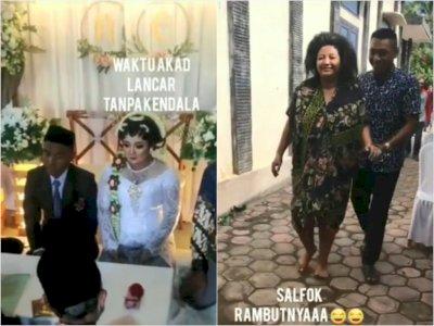 Momen Kocak Pengantin Wanita Pingsan Setelah Akad Nikah, Netizen Ngakak Lihat Rambutnya