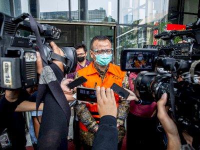 Didakwa Terima Suap Rp25,7 Miliar, Edhy Prabowo Tetap Ngaku Tak Bersalah