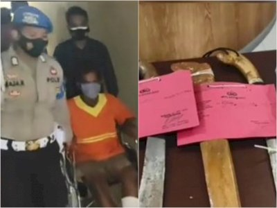 Astaga, Pria Ini Bacok Jamaah Masjid At Taqwa Banjarmasin Pakai Parang, Ngaku Salah Target