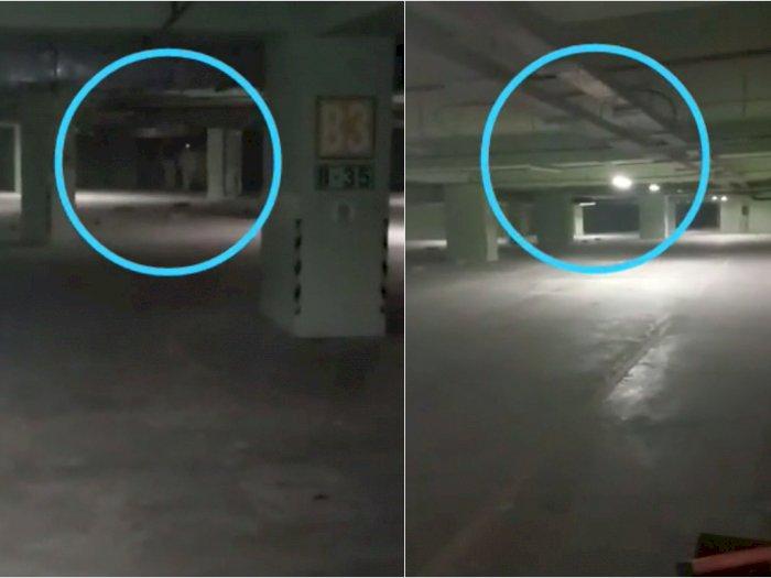 Horor! Satpam Tak Sengaja Rekam Penampakan Kuntilanak dan Pocong di Basement Mall