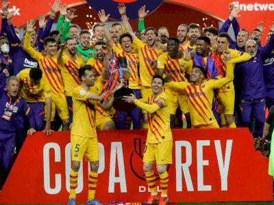 Messi Bawa Barcelona Juarai Piala Raja Usai Meluluhlantakkan Athletic Bilbao 4-0