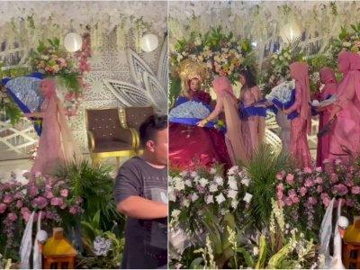 Viral Aksi Tamu Pernikahan Berikan Kado Buket Uang Gede, Bikin Netizen Iri