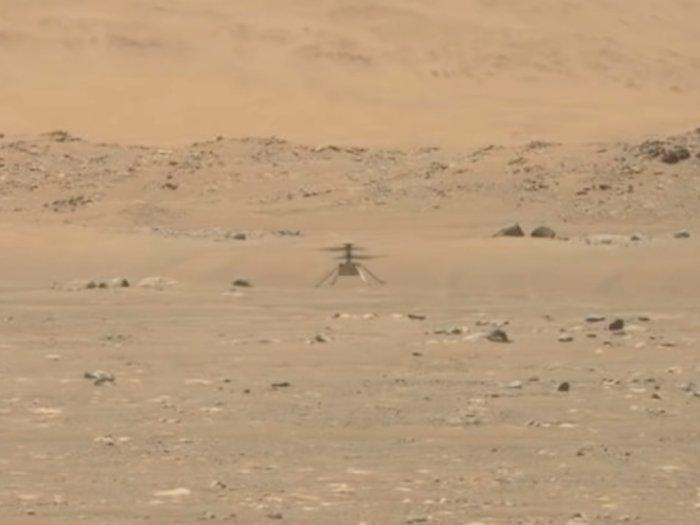 Momen Helikopter Mars Ingenuity Buatan NASA Sukses Terbang di Planet Mars!