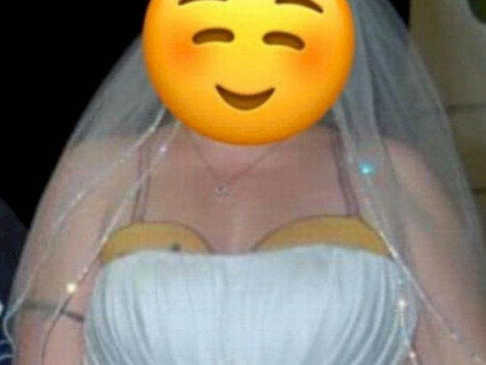 Pengantin Wanita Ini Ditertawakan karena Gaun Strapless Perlihatkan Tato Anehnya