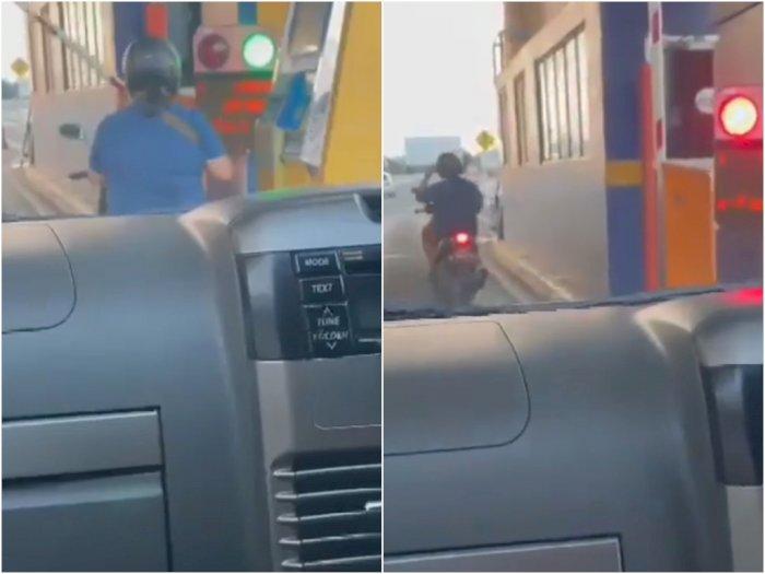 Viral Video Emak-emak yang Masuk Jalan Tol Pakai Motor, Ini Kata Jasa Marga