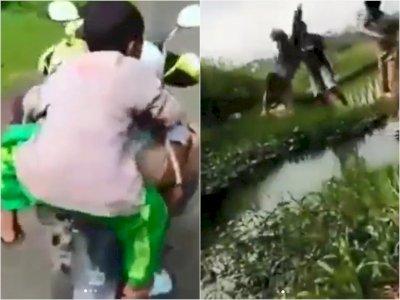 Biadab, Sejumlah Remaja Ini Lempar Bocah ke Dalam Sungai, Tuai Kecaman Netizen