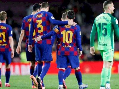 Pique: Messi Saat Ini Bahagia di Barcelona