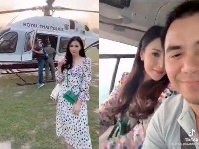 Pangkat Detektif Thailand Ini Diturunkan Usai Istri Unggah Video Helikopter di TikTok