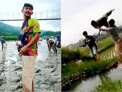 Tampang Pelaku yang Banting Bocah Yatim ke Kubangan Air, Medsosnya 'Digeruduk' Netizen