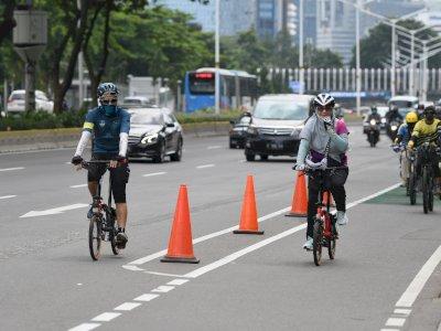 Lindungi Pesepeda, Fasilitas Jalur Sepeda Sudirman-Thamrin akan Ditambah Termasuk Rambu