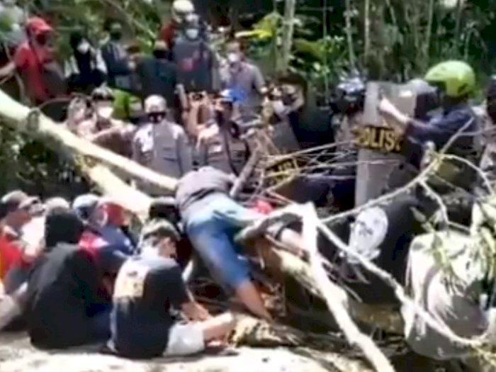 LBH Yogyakarta Rekam Perlawanan Warga Desa Wadas, Aparat Tarik Paksa Ibu Sedang Sholawatan