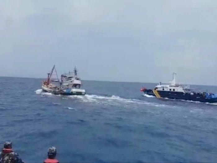 KKP Amankan Kapal Pencuri Ikan di Natuna Utara, Sempat Diwarnai Aksi Kejar-Kejaran