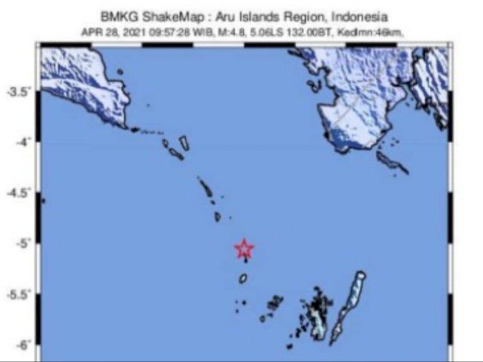 BMKG Laporkan Terjadi Gempa Bumi M 5,1 di Laut Banda, Tidak Berpotensi Tsunami