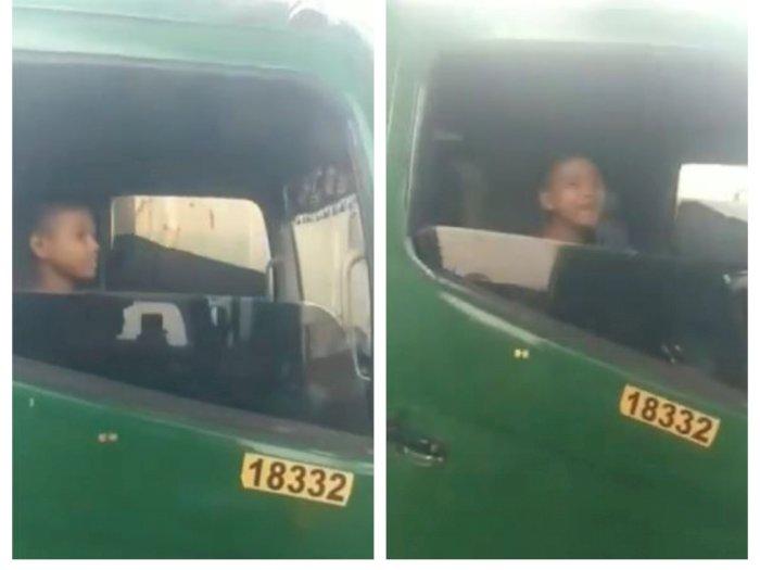 Polda Metro Amankan Bocah 12 Tahun yang Viral Kemudikan Truk Tronton